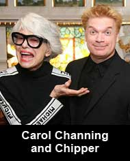 Lowell with Carol Channing