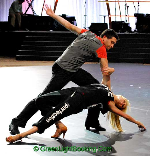 Kym Johnson and Dmitry Chaplin - Green Light Offers the Finest Dancers for Hire