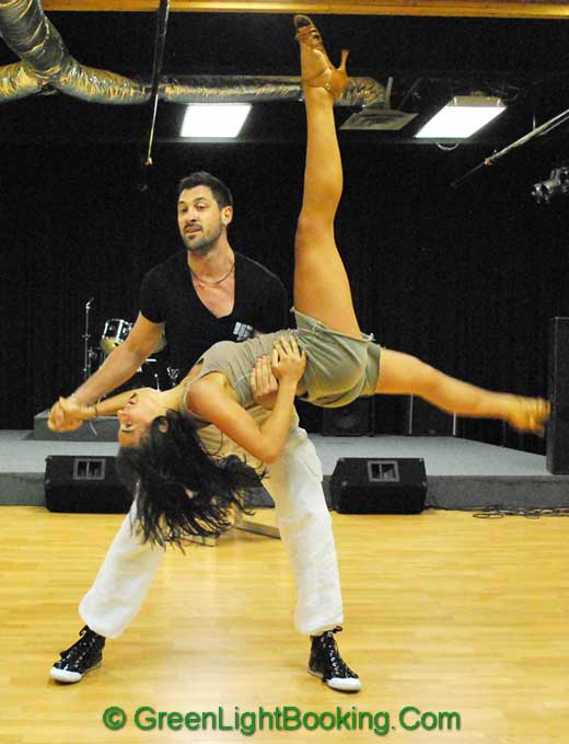 Maksim Chmerkovskiy and Afton DelGrosso from Dancing with the Stars - Hire World Class Dancers from Green Light Booking