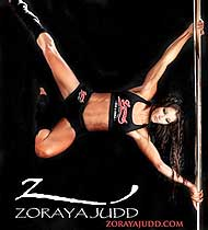 Dancer Showing Extraordinary Strength on the Pole