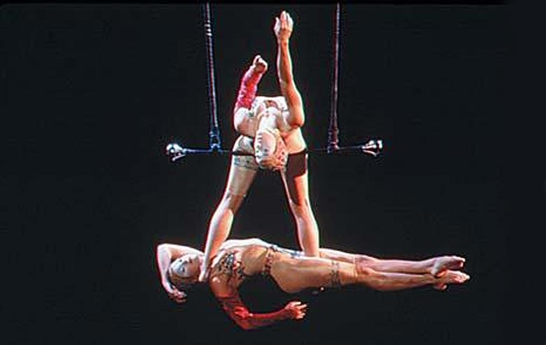 Stunning Aerial Trapeze Act