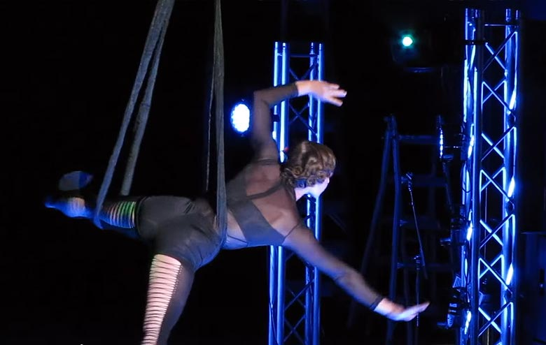 Exciting Aerial Performers