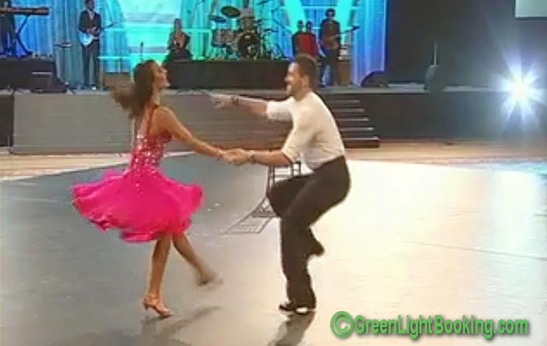 Afton and Maksim of DWTS - Dancing in Las Vegas