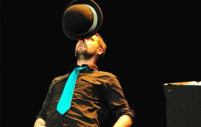 Balancing a Bowling Ball on His Head