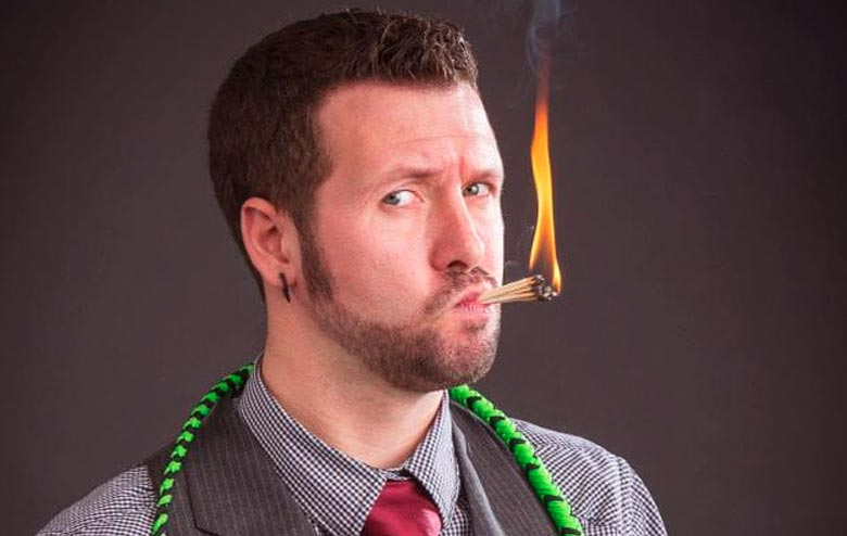 Comedian Matt Baker and His Comedy Stunt and Juggling Show