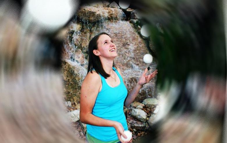 World-Caliber Female Juggler