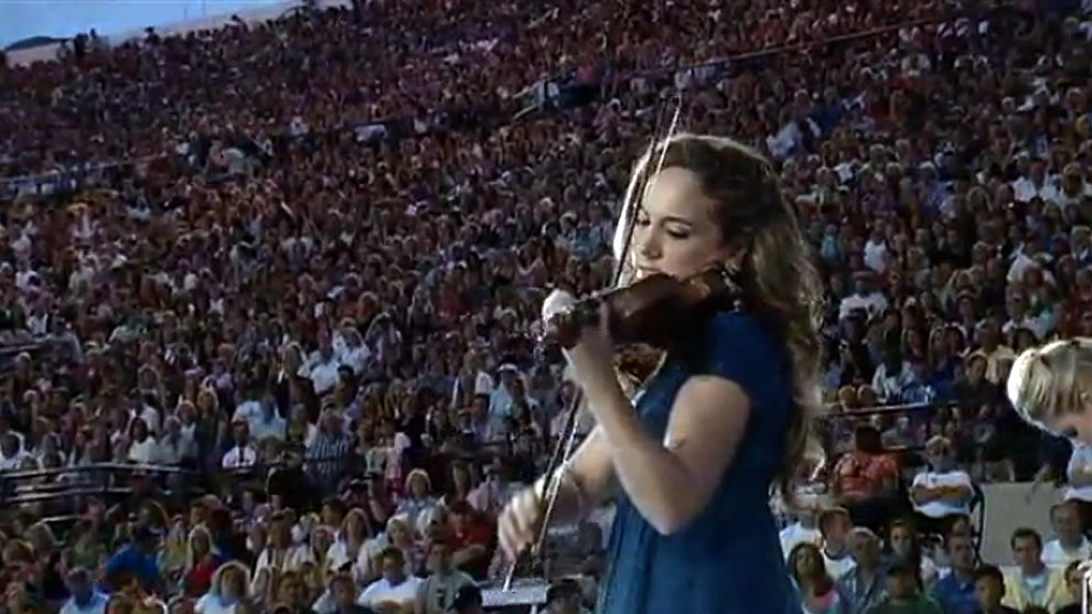 Jenny Oaks Baker Performing for 50,000 at Stadium of Fire