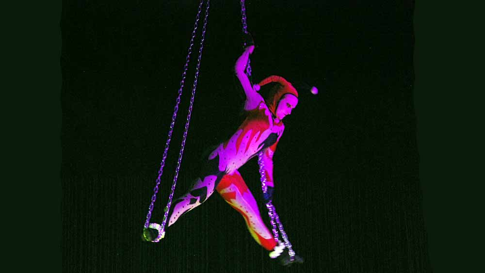 Aerialist with Chains