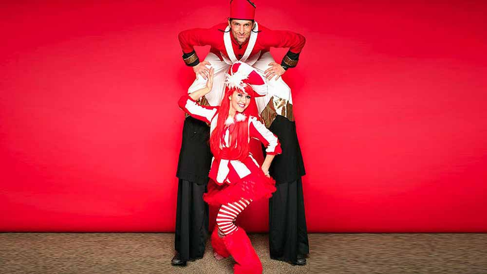 Stilt Walkers in Costume Photo