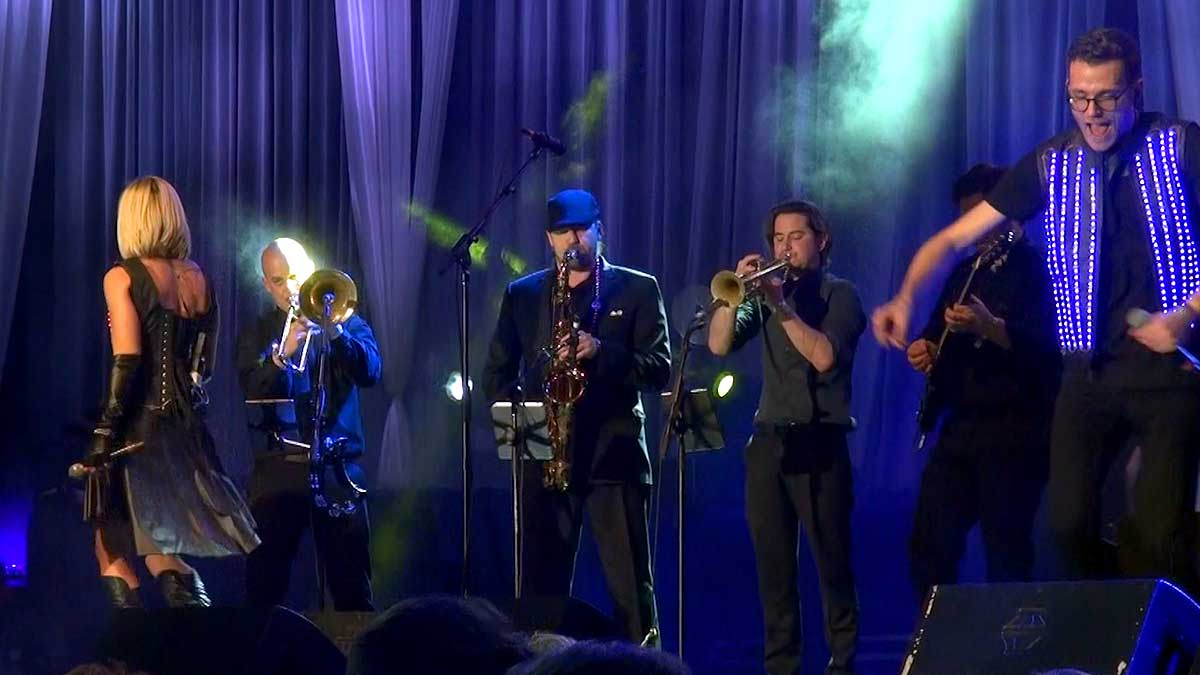 No Limits Horn Section at Mardi Gras 2016