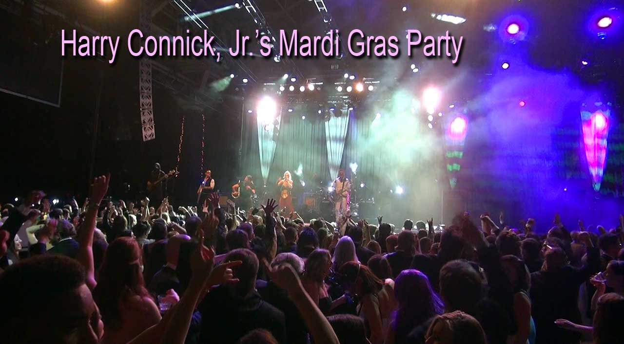 Party Crashers Performing at Harry Connick, Jr.'s Mardi Gras Party 2016