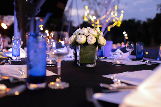 Table Setting for a Wedding Reception or Event