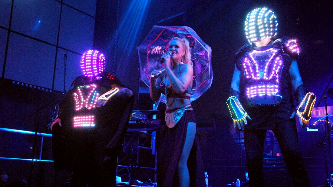 Party Crashers Band in LED Light Suits and Star Wars Costume in Las Vegas