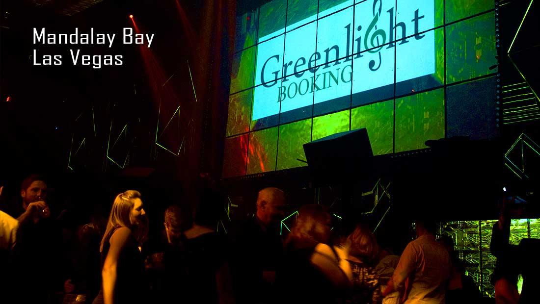 Green Light Booking in Lights at Mandalay Bay's Light Night Club in Las Vegas