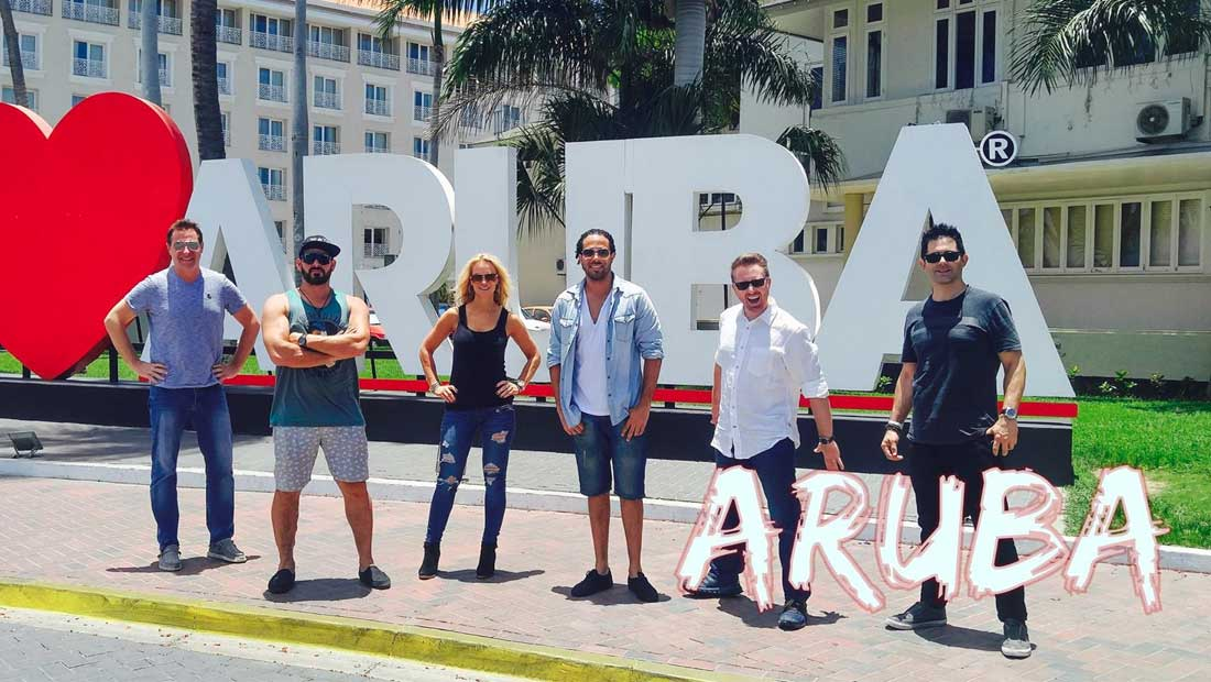 Party Crashers Play in Aruba for a Corporate Event