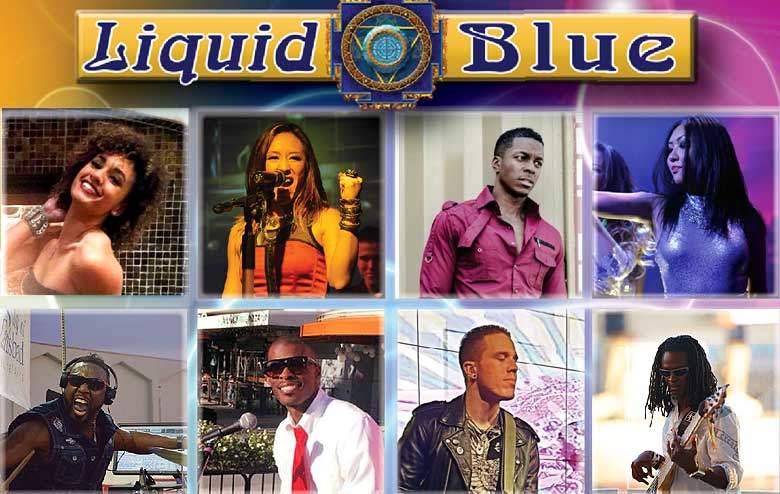 Liquid Blue Band for Weddings