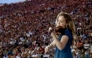Classical and Pop Violinist Performing at Utah Stadium of Fire