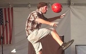 Matt Juggling a Bowling Ball